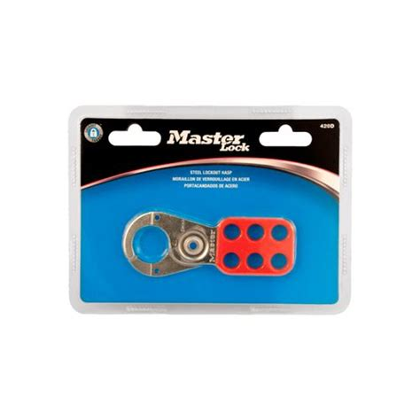 Safety Hasp Masterlock 420 master lock lockout hasp steel 420d in blister packaging lockout tagout shop