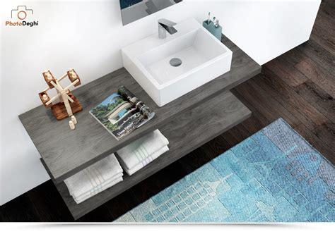 ripiani per bagno ripiani d appoggio design sospeso 140 cm per lavabi e