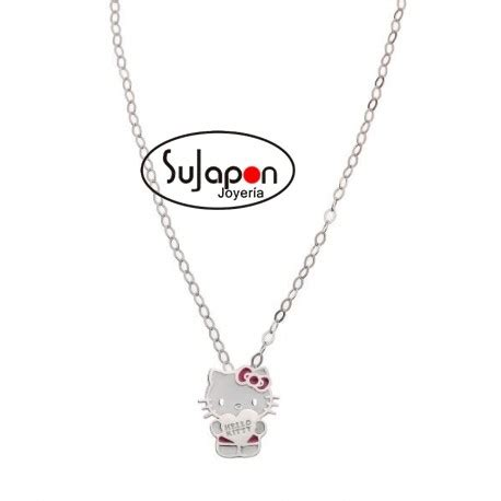 cadenas de plata de hello kitty colgante de plata de hello kitty