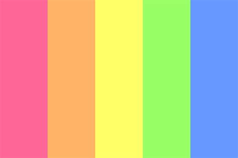 bright color light bright rainbow color palette