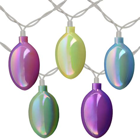easter egg party string lights pearlized pattern