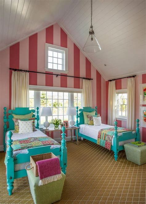 turquoise childrens bedroom cute girls room from the hgtv dream home 2015 cute twin