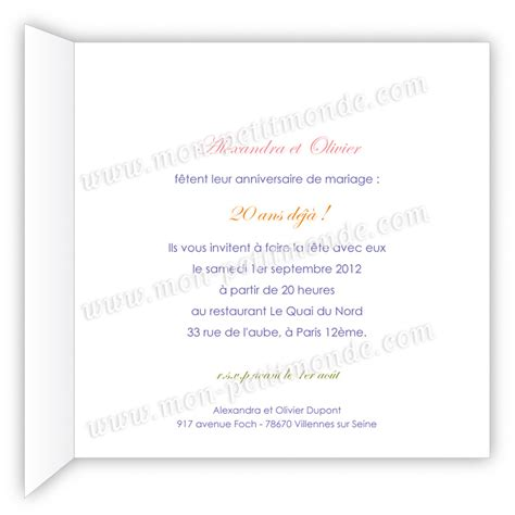 modele lettre anniversaire 20 ans de mariage document