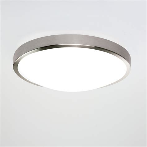 astro 0906 osaka 1 light flush ceiling light brushed nickel