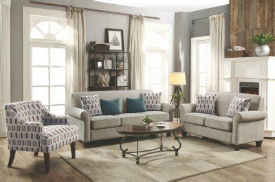 gideon leather sofa gideon sofa loveseat set 506401 in cement fabric by coaster