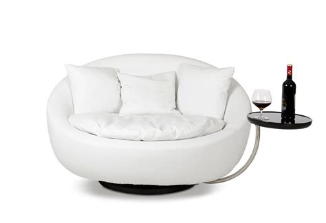 Alba   Modern White Round Liesure Chair
