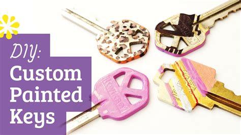 design home keys diy custom painted keys youtube