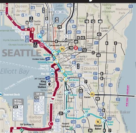 seattle map transportation pin by highbold on cartographie