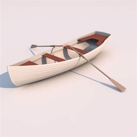 row boat model 3d model row boat