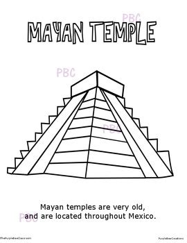 mayan coloring pages pdf cinco de mayo mayan temple coloring sheet by the purple