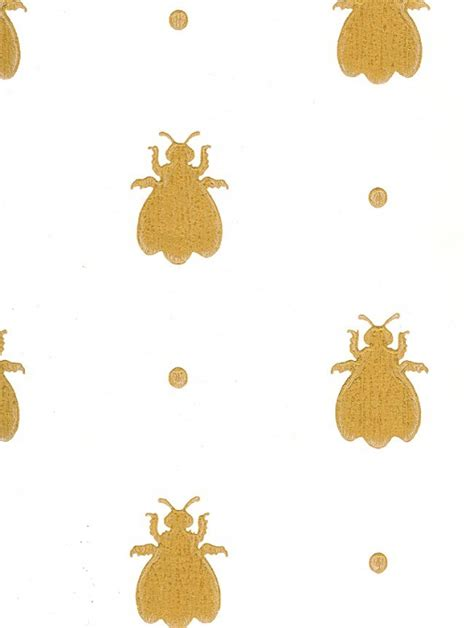 wallpaper with gold bees hand sted bee walls