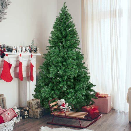 artificial christmas tree legs 6 premium artificial pine tree with solid metal legs 1000 tips tree walmart