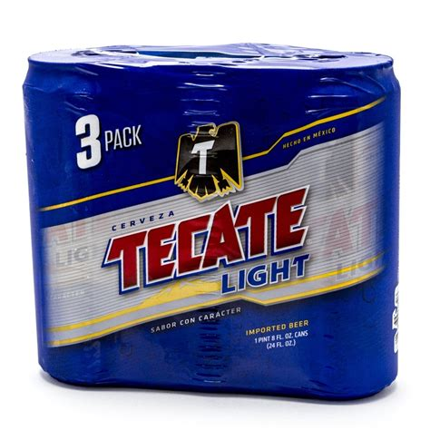 Tecate Light by Tecate Light 24oz Can 3 Pack Wine And