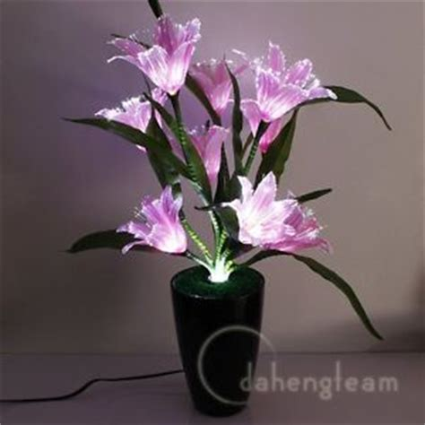 Fiber Optic Flower L by Flower Color Changing Potted Fiber Optic L Home