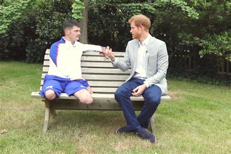 Prince Harry interviews soldier who suffered horrific