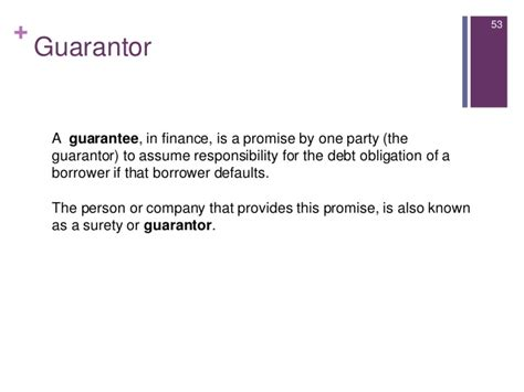 Guarantor Letter Sle For Employment Introduction To Consumer Lending
