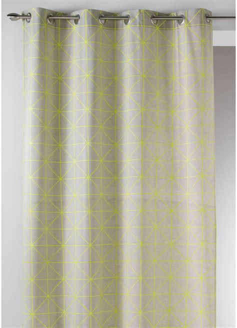 Rideau De Coton rideau en toile de coton aux imprim 233 s design jaune