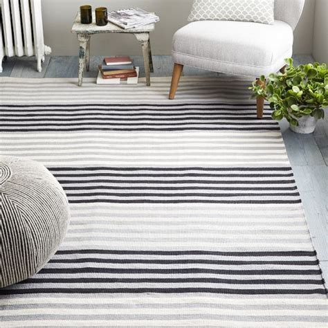 striped dhurrie rugs colorstep stripe cotton dhurrie rug black white west elm this rug and so cheap