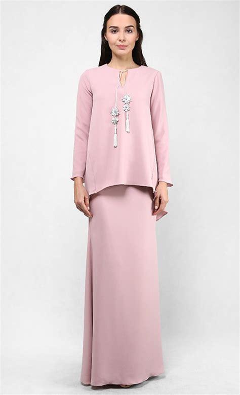 Baju Ala Kurung Kedah sieena modern kurung kedah set in dusty pink fashionvalet