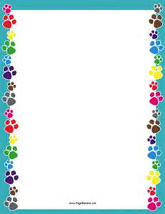 colorful paw print border