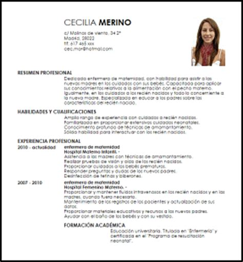 Modelo Curriculum Vitae De Enfermeria Tecnica Modelo Curriculum Vitae Enfermera De Maternidad Livecareer