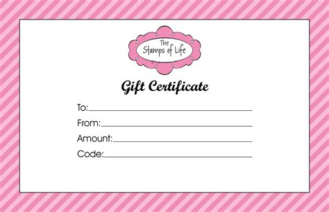 gift card template gift certificate templates to print activity shelter