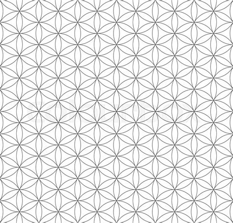 pattern flower of life vector black contour monochrome hinduism sacred geometry