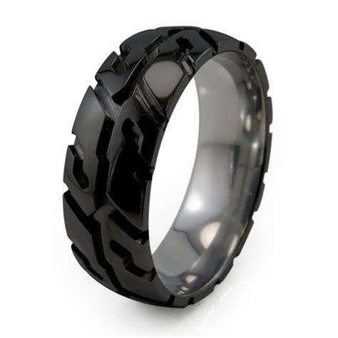 Black Titanium Ring Wedding by Mens Wedding Rings Titanium Wedding Promise