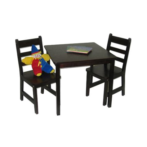 Childrens Wooden Table And Chairs by Childrens Wooden Table And Chairs Espresso In Furniture