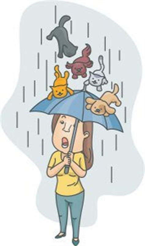 raining cats and dogs meaning idioms