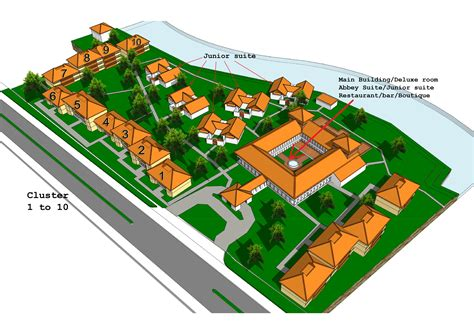 layout design hotel resort layout sanctum inle resort