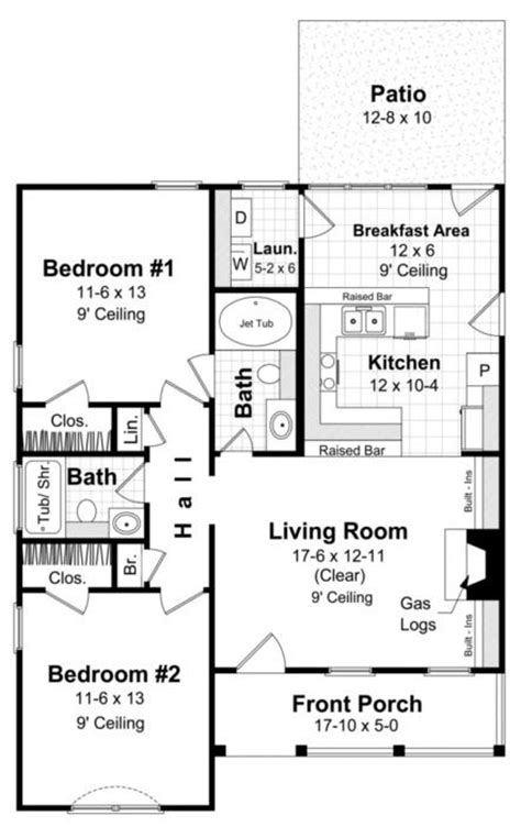 floor plans 1000 square feet traditional plan 1 000 square feet 2 bedrooms 2