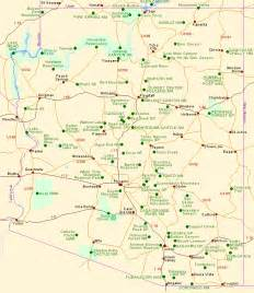 arizona towns map map of arizona