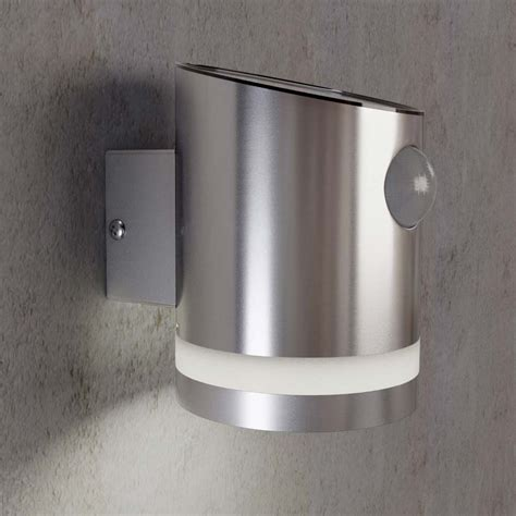 solar outdoor wall lights stainless steel outdoor solar powered truro solar motion