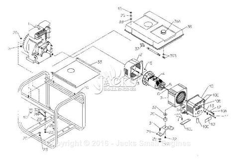 coleman powermate 5000 parts diagram powermate formerly coleman pm0545212 02 parts diagram for