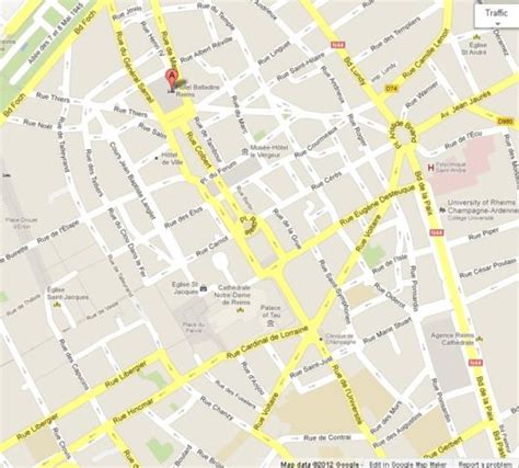 map reims reims a beautiful city in world easy guides
