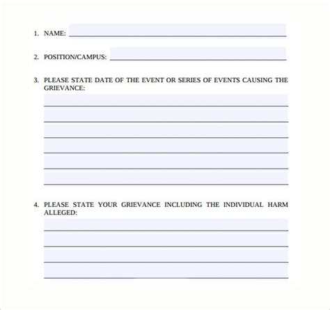 employee complaint form template employee complaint form 8 free sles exles formats