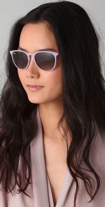 Original Ban Rb4243 Sunglasses Violet lyst ban youngster erika wayfarers in pink