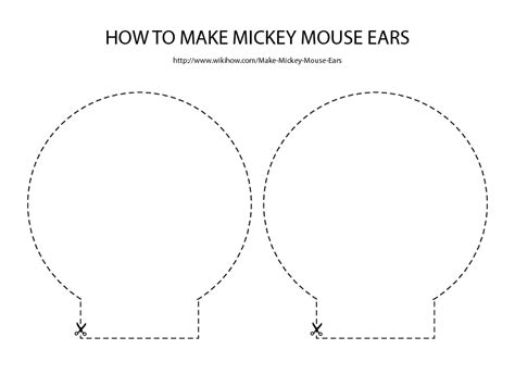 mickey mouse template free free for mickey mouse ears template