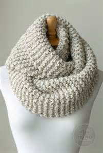 knit scarf chunky knitted infinity scarf in by