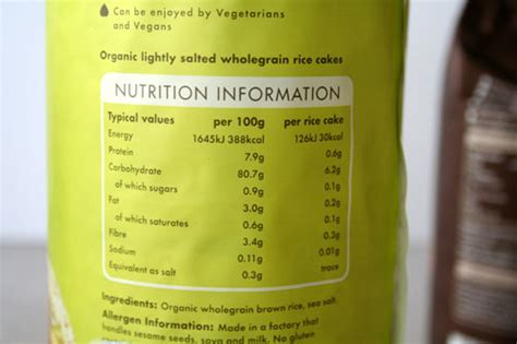 new year rice cake calories kallo rice cake nutrition bit of the stuff