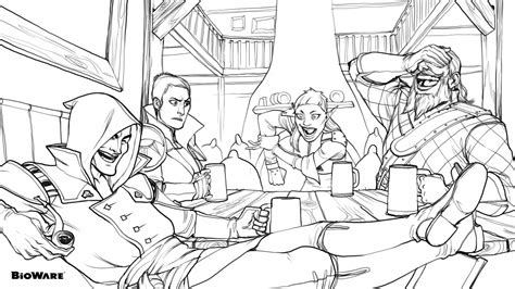 dragon age coloring page coloring age bioware blog