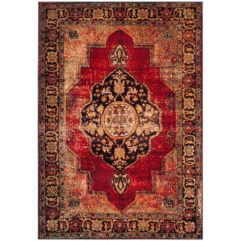 Safavieh Vintage Hamadan Red Multi 6 Ft 7 In X 9 Ft 9 Ft Rug
