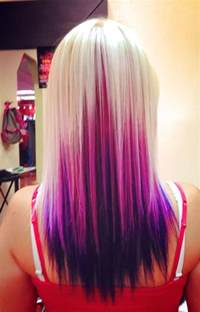with platinum pink hair purple and blonde hair platinum blonde pink and purple