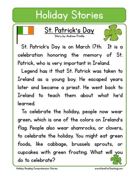 s day story st s day worksheets teaching
