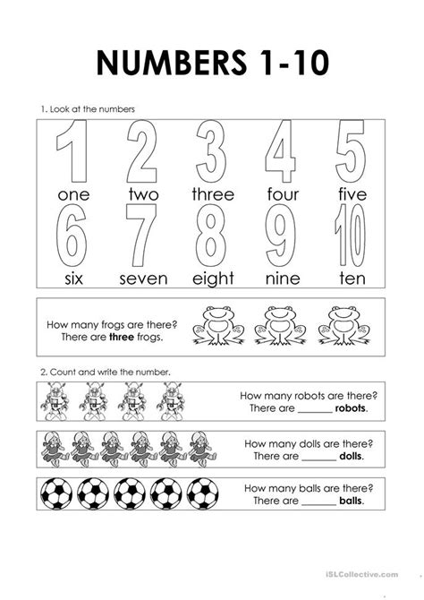 free printable numbers 1 10 worksheets numbers 1 10 worksheet free esl printable worksheets