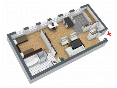 50 square meters to fully furnished flats and apartments betweenn 50 amd 73 square meters with varying room layouts