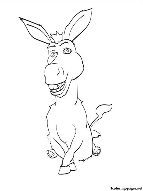 penciling  color donkey  shrek coloring pages