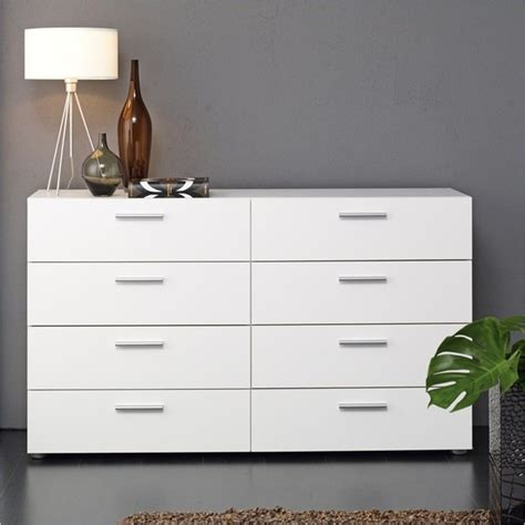 Austin 8 Drawer Double Dresser White Modern By Cymax Modern Bedroom Dressers And Chests