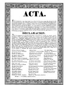 acta declaracion de la independencia argentina 9 de julio